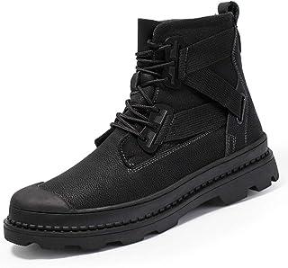 Dr. Martin unisex boots Black high-top leather boots black leather booties wild British style tooling boots rubber Boots Soles Comfortable Non-slip Wear-resistant (Color : Black, Size : 43)