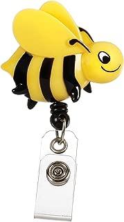 Prestige Medical S14-bee Retractable Badge Holder with Bulldog Clip, Bee