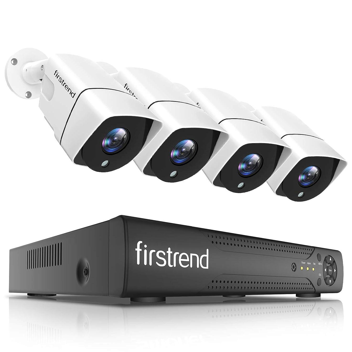 案件コンパス風景【最新強化版】防犯カメラキット、Firstrend監視カメラシステム(1TBハードディスク内蔵)、8チャンネル、カメラ増設可能、1080P、防犯カメラ4台セット、セキュリティカメラシステム 全天候、防水IP66、レコーダー、ナイトビジョン、暗視撮影、屋内/屋外対応、遠隔監視、増設可
