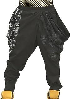 [RONDEL-BLACK(ロンデルブラック)]ペイズリー柄 リーフ柄 ドレープパンツ ボトムス 黒 ブラック NF