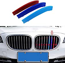 For B M W 7 Series F01 F02 730i 740i 750i 760i 730Li 740Li 750Li 760Li 2014-2015 (9 Grille) 3D Front Grille Strips Motor sports M Color Insert Trim Grill Cover Stickers Decoration