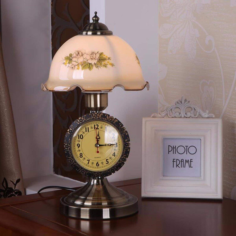 MOM Tischlampe-Leselampe Kreative Idyllische Schlafzimmer Nachttischlampe mit Uhrglaslampen Arbeits Kinder Augenschutz Leseleuchten
