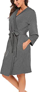Women Robe Soft Kimono Robes Cotton Bathrobe Sleepwear Loungewear Short