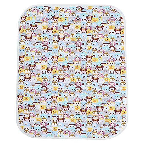 Tappetino da Viaggio Portatile Impermeabile Traspirante Urina per Bambini Addensare Cotone Infantile Fasciatoio per Pannolini perRagazzi Ragazze Neonato (Animals)