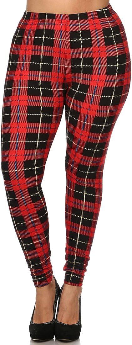 NioBe Clothing Women's High Waist Ultra Soft Plus Size Fashion Leggings 40+ Designs