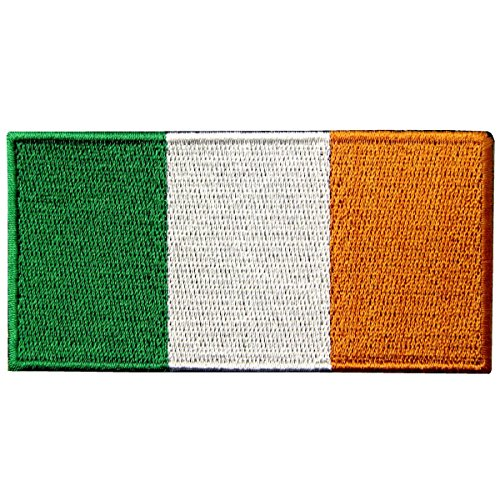 Republik Irland Flagge Irisch Nationales Emblem Bestickter Aufnäher zum Aufbügeln/Annähen