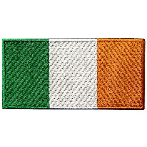 Bandera de la República de Irlanda Irlandesa Emblema nacional Parche Bordado de Aplicación con Plancha