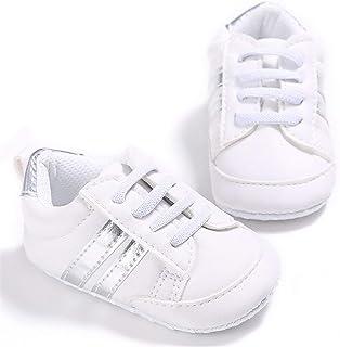 Geagodelia Neonato Scarpine Primi Passi Sneaker Bambini Bambina Scarpe Antiscivolo 0-18 Mesi