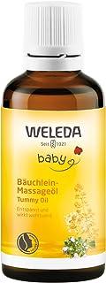 WELEDA Baby Bäuchlein Massageöl, Naturkosmetik Massage Öl gegen Bauchschmerzen und Krämpfe von Babys und Kleinkindern, Pflegeöl zur Verdauungsförderung 1 x 50 ml