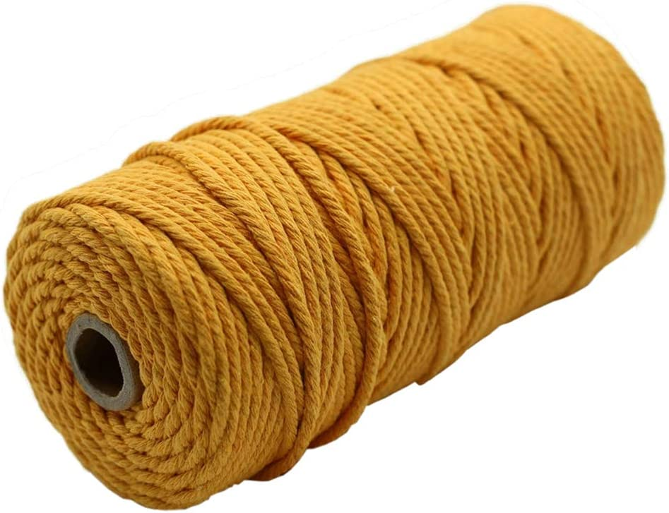 Golden Yellow Autumn Harvest Under blast sales Natural Wall Cotton Ha New products world's highest quality popular Macrame Cord