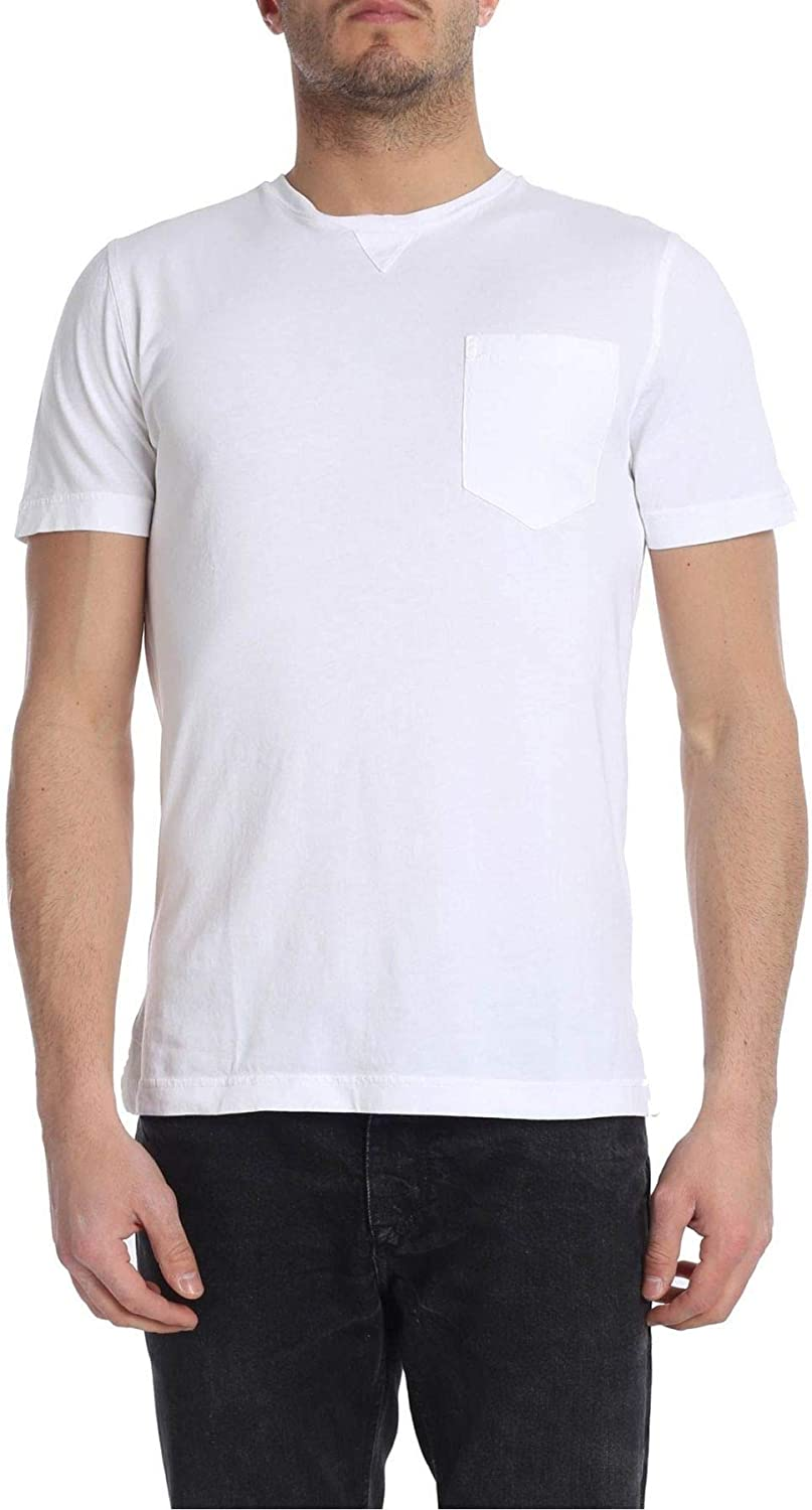 DRUMOHR Men's IJ303201100 White Cotton TShirt