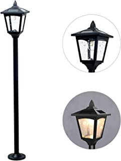 42inches Mini Street Vintage Lamp Post Solar Lamp Garden Outdoor Light Lawn - Adjustable (Clear)