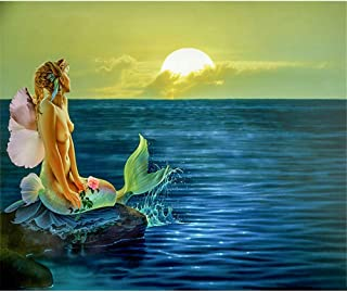 5D DIY Diamond Painting - Sexy Nude Mermaid Resin Cross Stitch Kit - Crystals Embroidery - Home Decor Craft 26x20 inch / 65x50 cm