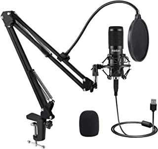 USB Condenser Microphone, IKEDON 192KHZ/24Bit Plug & Play...