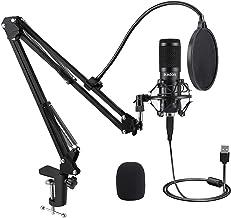 میکروفون IKEDON - دارای کابل USB امکان ضبط صدای استریو  و مناسب برای برنامه های اسکایپ، یوتیوب و بازی ها