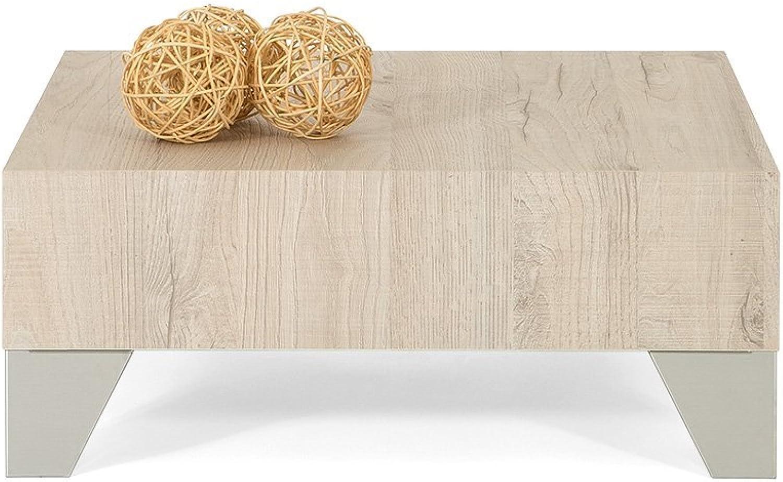 Mobili Fiver Evo 60Couchtisch, Holz, Eiche Creme, 60x 60x 24cm