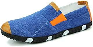 DUXINLIN Driving Loafer For Men Boat Moccasins Slip On Style Diablement fort Breathable Color Matching Low Top Round Toe (Color : Light Blue, Size : 43 EU)