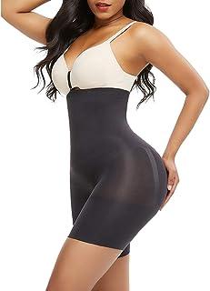 FeelinGirl Kvinnor Shapewear figurformad mage bana effekt vigselbyxor underbyxor form sorft body form med ben hög midja mi...