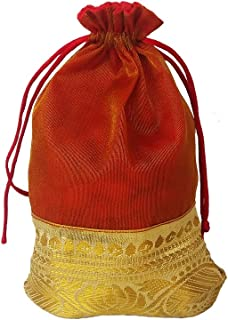WeddingPitara Shagun Gift Potli Bags 18 * 13 Cms (Pack of 10)