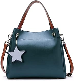 FengheYQ Women's Messenger Bag Simple Simple Joker Firming Small Shoulder Studded Leather Tote Size:25 * 13 * 20cm (Color : Blue)