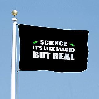 VinMea Flag Political Banner 3x5 Feet Science Like Magic But Real Flags for Yard Garden Outdoor Decoration