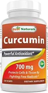 Best Naturals Turmeric Curcumin Extract 700 mg 120 Veggie Capsules - MAX Potency - Super Strength Curcumin) with 95% Curcuminoids for Maximum Health & Vitality! Strongest & Most Effective