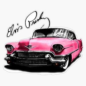 EMC Graphics Elvis Presleys Pink Cadillac Vinyl Waterproof Sticker Decal Car Laptop Wall Window Bumper Sticker 5
