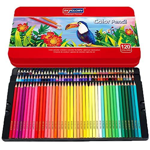 LIAKI 色鉛筆 120色セット カラーペン アート色鉛筆セット メタルケース 油性鉛筆 子供と大人の塗り絵やプレゼント用にも最適 入学お祝い プレゼント