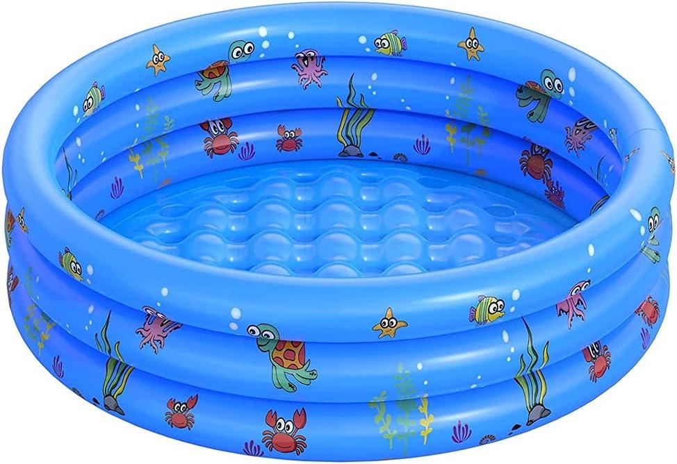 Piscina Hinchable Inflable De Verano Piscina para Niños Pequeña Piscina Jardín Bañera De SPA para Interior Outdoor Ground Backyard Garden Verano Azul 150x40cm