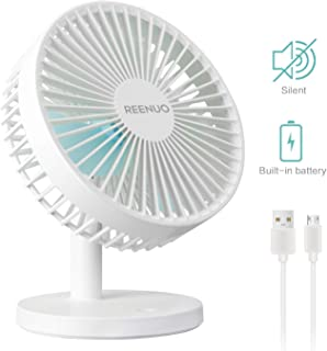 6.2 inch, Black Strong Cooling viniper Battery Operated Fan Rechargeable Fan : 180/° Rotation and 3 Speeds Strong Wind Portable USB Quiet Fan Optimised Battery /& Longer Working Hours