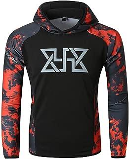 Men's Casual Long Sleeve Fitness Hoodie T Shirt Lightweight Hipster Hip Hop Hooded Sweatshirts Blouse