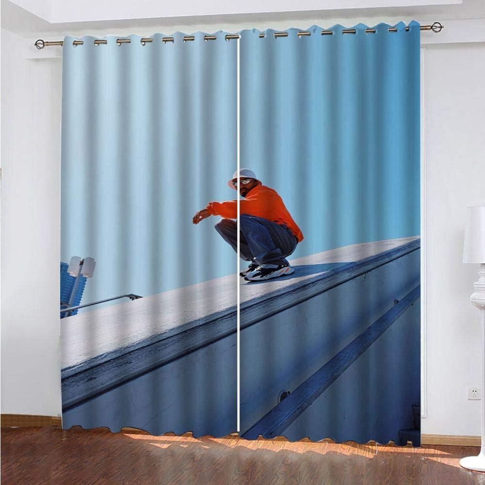 DRFQSK Cortinas Infantiles Impresión Digital Estampado De Hombre City 3D Cortinas Opacas Termicas Aislantes Cortinas Dormitorio Moderno con Ollaos, 2 Paneles 234 X 230 Cm(An X Al)