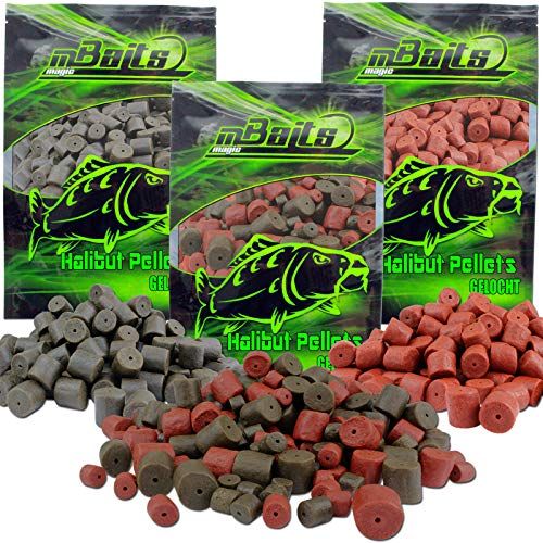 Angel-Berger Magic Baits Pellets gelocht Halibut Futtermittel (Dark Halibut 14mm, 2KG)