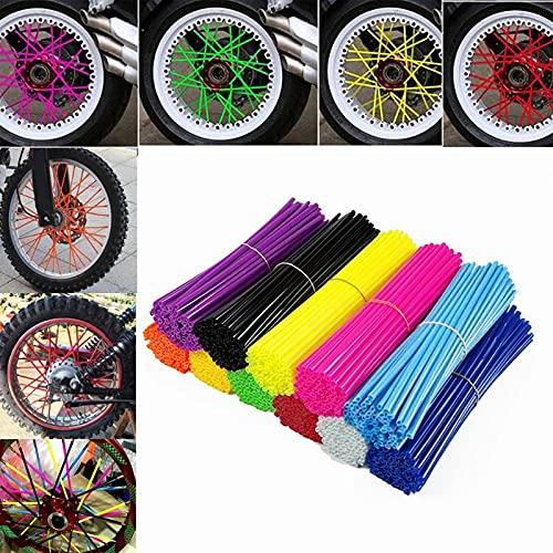 24 Cm / 17 Cm 72 Uds, Protector De Radios para Rueda De Motocicleta, Cubierta De Piel, Tubo para Bicicleta De Motocross, Bicicleta