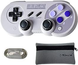 Mcbazel 8Bitdo SN30 Pro Bluetooth Wireless Controller for NS Switch/Windows / Android/Macos / Stream – With Mcbazel Storage Bag