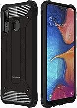 TECHGEAR Galaxy A20e Case [Tough Armoured] ShockProof Dual-Layer Protective Heavy Duty Tough Cover Designed For Samsung Galaxy A20e - (Black)