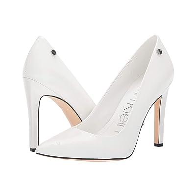 Calvin Klein Brady (White Liquid Patent Smooth) High Heels