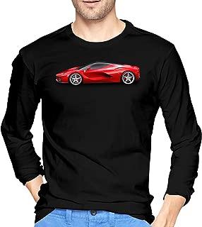 BYSKA Classic Tees LaFerrari-png Long Sleeves Shirts for Mens Black
