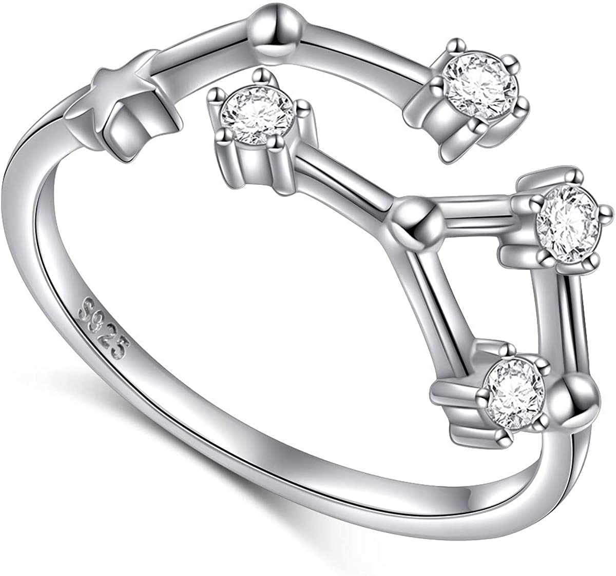 FLYOW 925 Sterling latest Silver CZ 12 Horoscope Constellation Complete Free Shipping A Zodiac