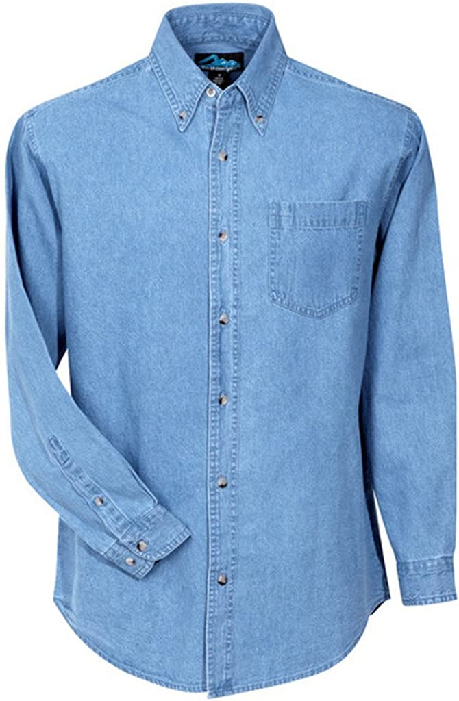 A&E Designs Premium Quality Trekker Long Sleeve Denim Shirt
