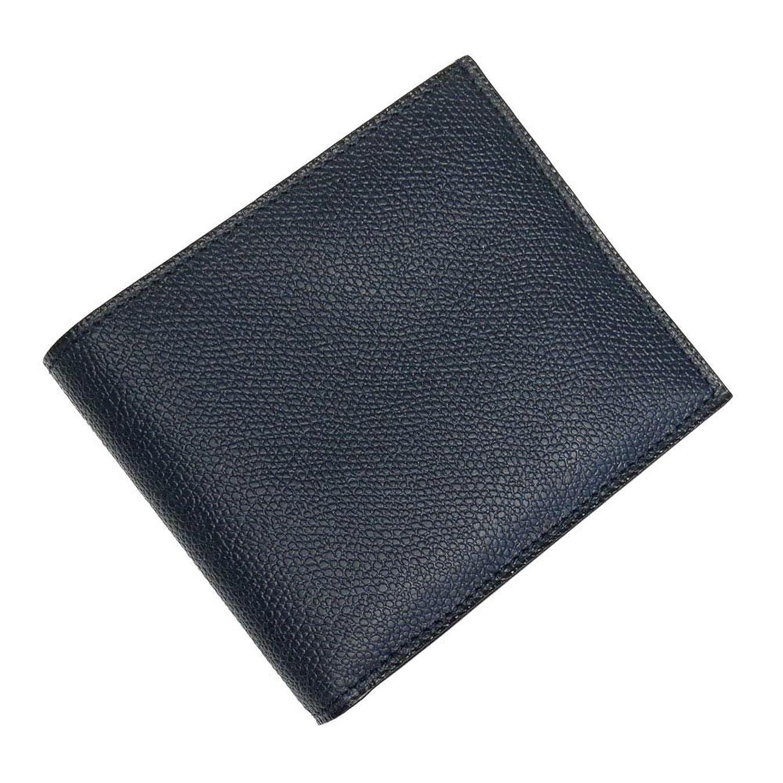 地下鉄なす満了[VALEXTRA(ヴァレクストラ)] 二つ折りレザー財布(小銭入れ付き) V8L23 028 メンズ [並行輸入品]