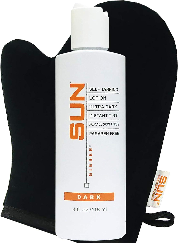 Sun price Laboratories Max 59% OFF Self Tanning Lotion 4 Dark + Natura Mitt oz