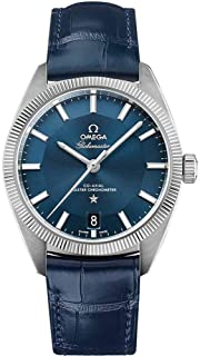 Constellation Globemaster Blue Dial and Leather Strap Men's Watch