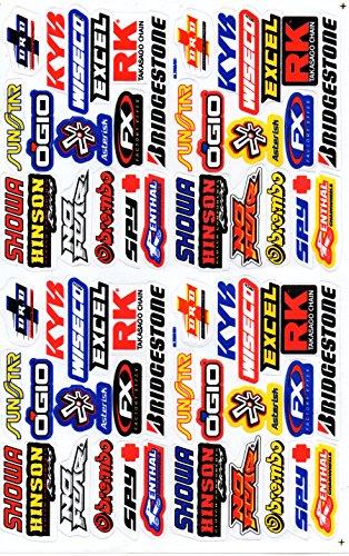 DD Sponsoren Sticker Aufkleber Folie 1 Blatt 270 mm x 180 mm wetterfest