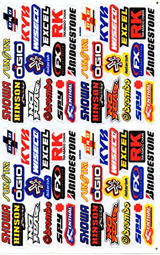 Sponsors Hoja Racing Decal Sticker Tuning Racing Tamaño: 27