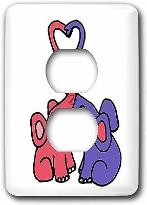 3dRose lsp/_57090/_6 Gender Reveal Party Team Boy Blue 2 Plug Outlet Cover