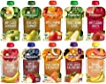 Happy Baby Clearly Crafted Stage 2 Organic Baby Food 10 Flavor Variety Sample...