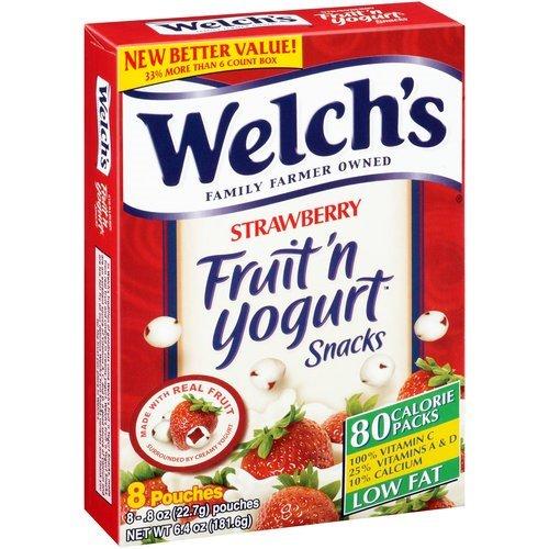 Welchs Strw Fruit & Yogurt Snack .8 Oz (8 Ct)