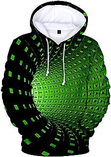 Harpily Felpa Uomo con Cappuccio Tumblr Stampato 3D Felpa Uomo Sportiva Creativo Economiche Sweatshirt Casual Uomo con Cap...