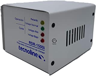 frilav Tecnoline® RDR-1500i Beige Regulador de Voltaje, Exclusivo Refrigeración, Lavadoras. 1500W, 600J, con Límites y Ret...